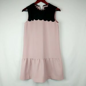 Victoria Beckham For Target Pink Black Scalloped N